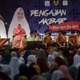 Suasana pengajian akbar Bersama Mamah Dedeh di Gor Jayabaya Kota Kediri. (Foto: Istimewa)