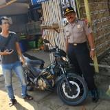 Sepeda motor hasil curian ditemukan tak jauh dari lokasi pencurian (Foto : Dokpol / TulungagungTIMES)