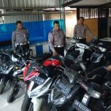 Kendaraan roda dua yang disita petugas selama Operasi Zebra