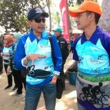 Kiri : Wahyu Hidayat Kepala DPKPCK Kabupaten Malang dalam suatu acara. Orang nomor satu di DPKPCK ini menyampaikan pihaknya telah memiliki skenario dan desain untuk pembangunan Alun-alun Kepanjen yang masih terkendala pembebasan lahan (Nana/ MalangTIMES)