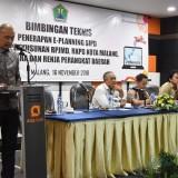 Suasana pembukaan kegiatan Bimtek Aplikasi e-Planning Kementerian Dalam Negeri yang digelar Barenlitbang Kota Malang. (Foto: Dokumen MalangTIMES)