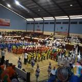 Pembukaan Kompetisi Olahraga Pelajar SD/MI di GOR Wirabhakti Lumajang (Foto : Moch. R. Abdul Fatah / Jatim TIMES)