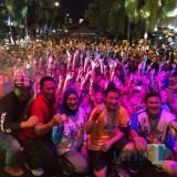 Keseruan event Blitar Night Run 5K di Kota Blitar (Foto : Team BlitarTIMES)