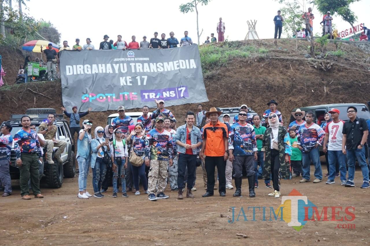 Komunitas Jeepers Situbondo saat berkunjung di Wisata Puncak Rengganis (Foto: Heru Hartanto / SitubondoTIMES)