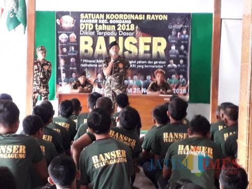 Diklat Dasar Banser di Kabupaten Tulungagung / Foto : Munir Ansor / Tulungagung TIMES