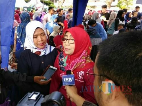 Kepala Dinas Kesehatan Kota Malang Dr dr Asih Tri Rachmi Nuswantari MM (foto: Imarotul Izzah/Malang Times)