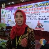 Kepala Seksi Kesehatan Keluarga dan Gizi Dinas Kesehatan Kota Malang Meifta Eti Winindar, S.ST, MM. (Foto: Imarotul Izzah/Malang Times)