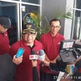 Plt Bupati Tulungagung, Maryoto Birowo (bertopi) didampingi Kadis Pendidikan,  Suharno (berkacamata)  (foto : Farhan/Tulungagungtimes)