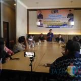 Silaturahmi DPW Partai NasDem dengan wartawan di Lumajang (Foto : Moch. R. Abdul Fatah / Jatim TIMES)
