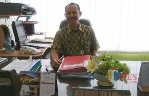 Kepala Laboratorium Kesehatan Daerah Kota Malang, Agus Widodo, SKM, M.Mkes. (foto: Imarotul Izzah/Malang Times)