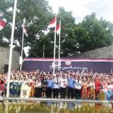 Suasana peringatan HUT PGRI Ke-73 di Kota Kediri. (Foto: Ist)