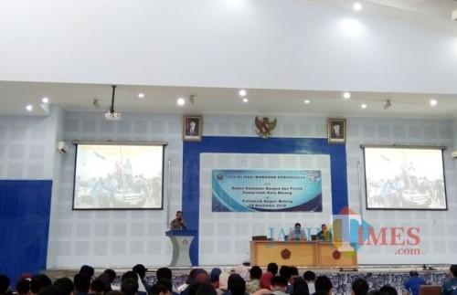 Sosialisasi wawasan kebangsaan oleh Bakesbangpol Kota Malang di Polinema, Rabu (28/11/2018) (Pipit Anggraeni/MalangTIMES).