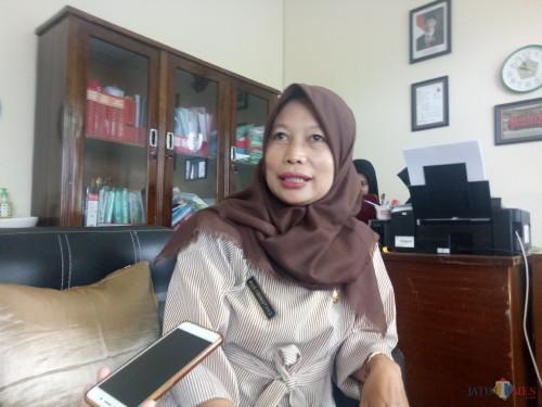 Kepala Puskesmas Cisadea Kustiningtyas, SKL. (foto: Imarotul Izzah/MalangTIMES)