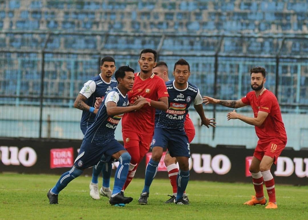 Suasana pertandingan kandang Arema FC vs Barito Putera (instagram)