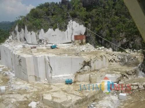 Pertambangan marmer di Tulungagung  (istimewa)