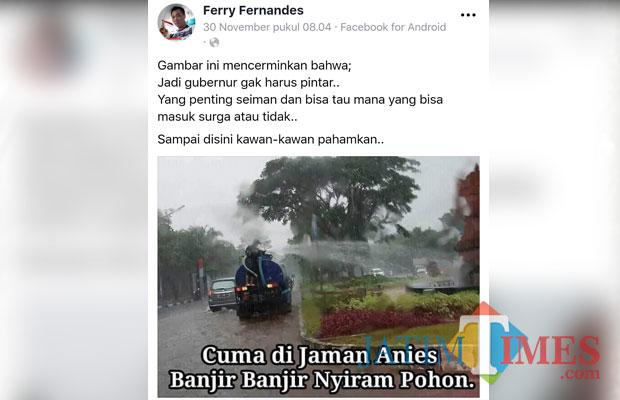 Foto repro Fb (Anggara Sudiongko/MalangTIMES)