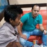 Pelaku M saat diamankan di UPPA Polres Tulungagung (foto : Anang Basso / TulungagungTIMES)