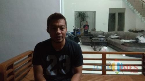 Kapten tim Arema FC, Hamka Hamzah (Hendra Saputra/ MalangTIMES)