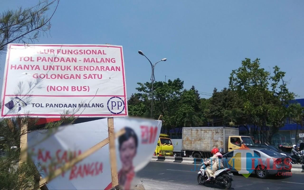 Lokasi persimpangan Tol Malang-Pandaan di Karanglo. (Foto: Nurlayla Ratri/MalangTIMES)