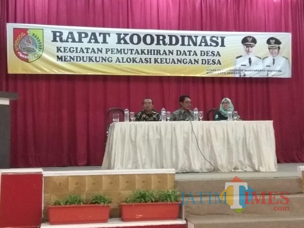 Acara Rapat Koordinasi yang digelar oleh Dispemasdes Pemkab Jember