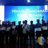 Penandatanganan kontrak Lelang Kinerja oleh OPD Pemerintah Kota Malang di Ngalam Command Center, Sabtu (8/12/2018) (Pipit Anggraeni/MalangTIMES).