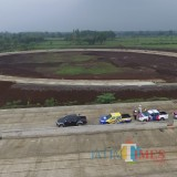 Petugas kepolisian Polres Malang saat meninjau kesiapan Tol Malang Pandaan, Kabupaten Malang (Foto: Dokumen MalangTIMES)
