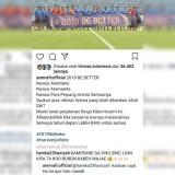 Screenshot postingan akun Instagram @aremafcofficial