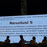 Suasana malam puncak Kongres Kebudayaan Indonesia 2018 di Jakarta. (Foto: Humas Pemkot Malang for MalangTIMES)