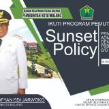 Poster program pemutihan pajak atau Sunset Policy III yang digeber Badan Pelayanan Pajak Daerah (BP2D) Kota Malang. (Foto: Dokumen MalangTIMES)
