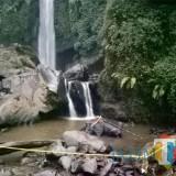 Lokasi tenggelamnya 3 pelajar SD Insan Mulis Malang di air terjun Coban Talun, Desa Tulungrejo, Kecamatan Bumiaji, Selasa (11/12/2018). (Foto: Irsya Richa/MalangTIMES)