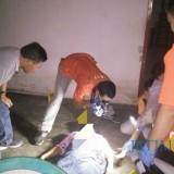 Polisi saat melakukan olah TKP dalam kasus pembunuhan Panjerejo. / Foto : Ali / Tulungagung TIMES