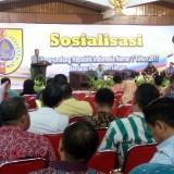 Acara Sosialisasi UU no. 7 2017 tentang pemilu di aula Pemkab Jember