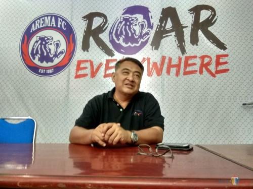 General Manager Arema FC, Ruddy Widodo saat ditemui di Kandang Singa (foto: Hendra Saputra/ MalangTIMES)