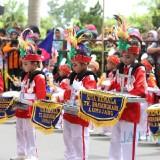Parade Drum Band Kapolres Cup Lumajang 2018. (Foto: Istimewa)