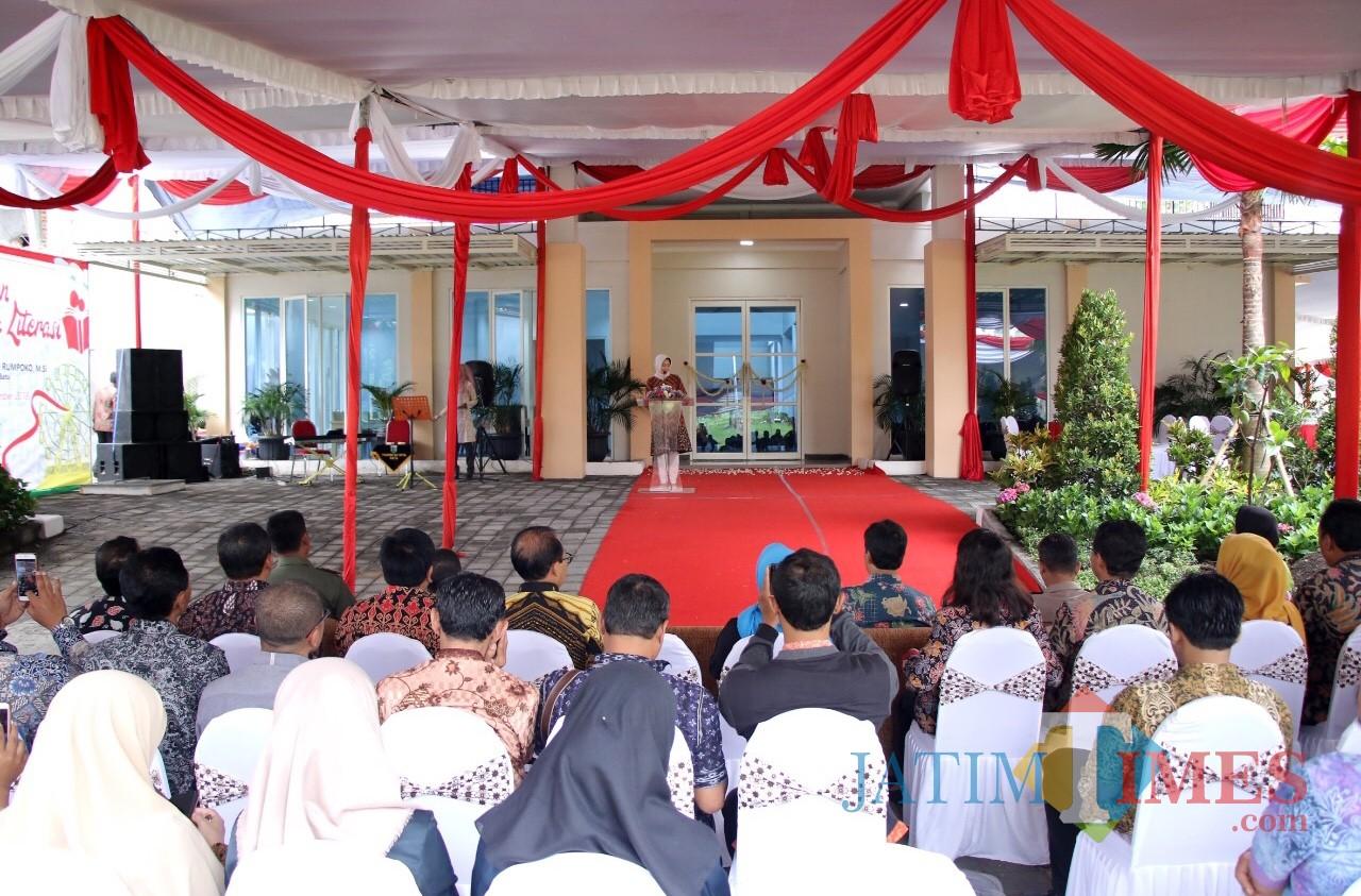 Prosesi peresmian di Perumahan Ijen Nirwana cluster Green Trees, Blok 3F Nomor 7 Kota Malang, Kamis (13/12/2018). (Foto: Istimewa)