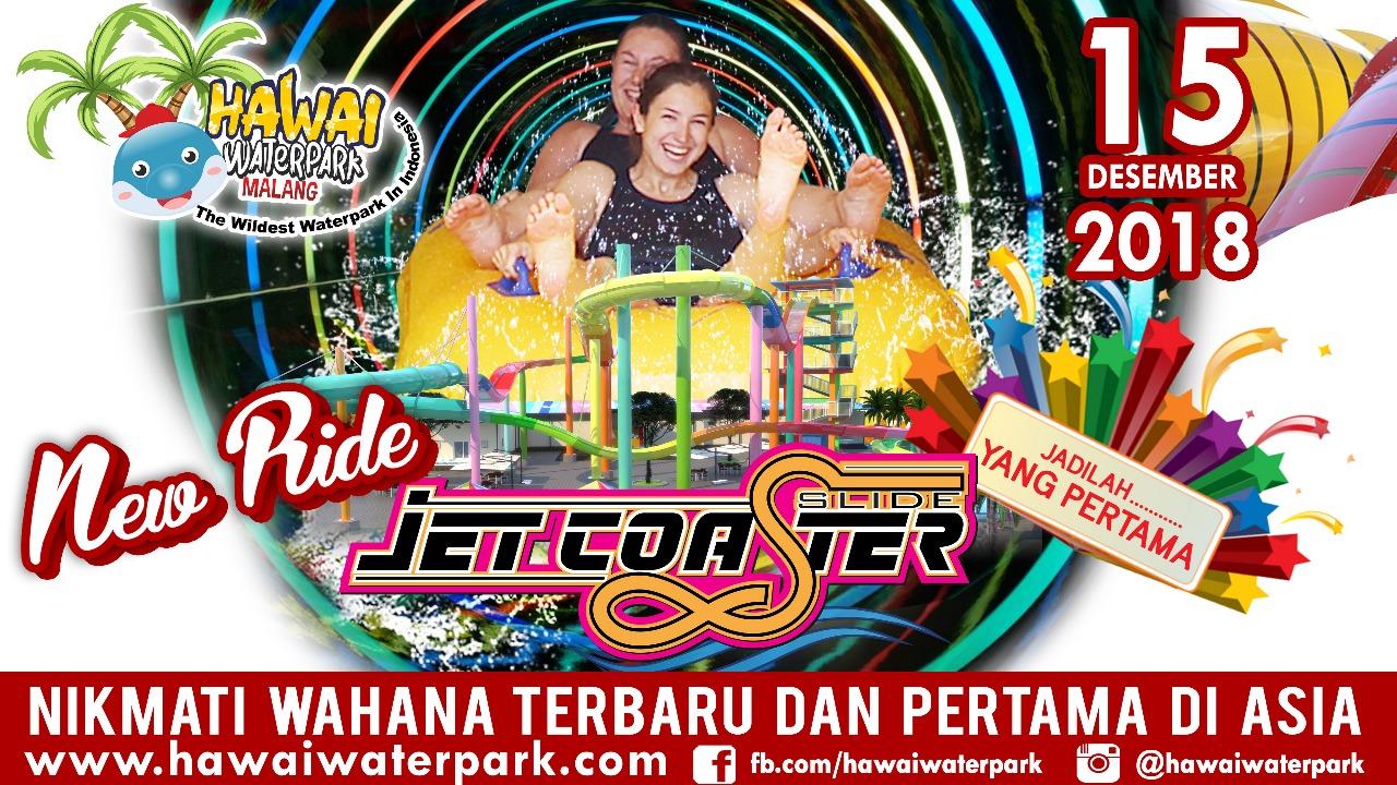 Siap-siap besok Jet Coaster Slide terpanjang se-Asia Tenggara dilaunching. (Foto: Hawai Waterpark for MalangTIMES)