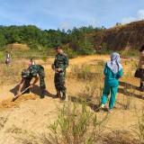Tanam pohon yang digelar Satgas Yonif 511/DY dan Koramil 1202-17 Jagoi Babang.