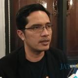Juru Bicara KPK Febri Diansyah saat menemui awak media di Kota Malang. (Foto: Nurlayla Ratri/MalangTIMES)
