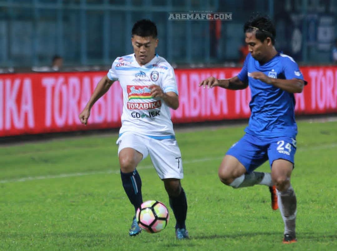 Jefri Kurniawan saat masih berkostum Arema FC (official Arema FC)