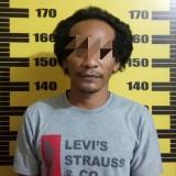 Tersangka Sugeng Riyanto saat di Mapolsek Bandung / Foto : Dokpol / Tulungagung TIMES