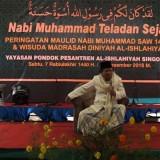 Caption: KH. Buchori Amin  saat memberikan ceramah di PP. Al-Ishlahiyah Singosari