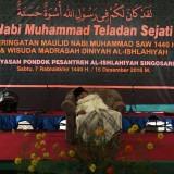 Caption: KH. Buchori Amin tak sadarkan diri saat memberikan ceramah di PP. Al-Ishlahiyah Singosari