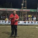 Saleh Ismail Mukadar saat memberikan arahan pada para relawan pemenangan Jokowi-Ma