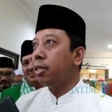 Ketua Umum DPP PPP M Romahurmuziy saat memberi keterangan terhadap awak media saat berkunjung ke Kota Malang, Selasa (17/12/2018) (Pipit Anggraeni/MalangTIMES).