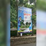 Alat peraga kampanye (APK) milik Partai Demokrat di Kabupaten Malang yang rusak parah (istimewa)