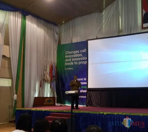 Asisten Deputi bidang pemasaranBPJS-TKWilayah Jawa Timur Dodit Isdiyono (foto: Imarotul Izzah/Malang Times)
