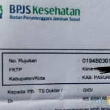 Berkas rujukan pasien di RS Asih Abyakta.