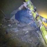 Mayat yang ditemukan di sungai Campurdarat. / Foto : Istimewa / Tulungagung TIMES