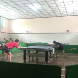 Salah satu pertandingan Piala KONI Kota Malang di aula SMAN 4. (Hendra Saputra)