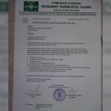 Surat imbauan perayaan tahun baru Pimpinan Cabang Muslimat Nahdlatul Ulama (NU) Kota Pasuruan yang salah satu poinnya menegaskan pelarangan meniup terompet (Istimewa).